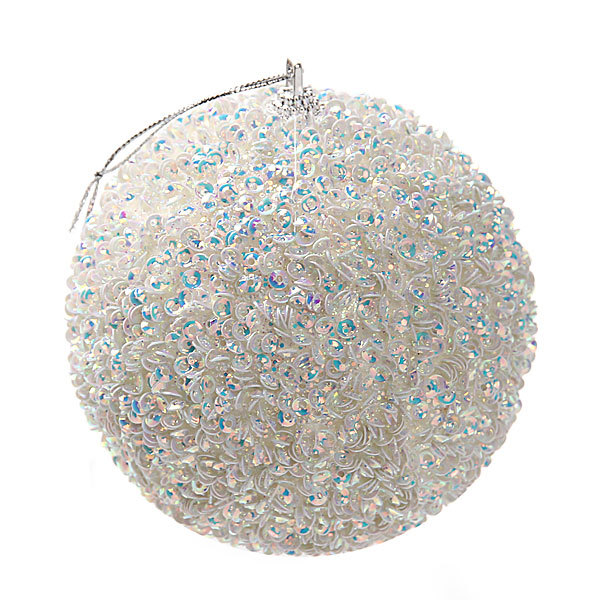 Новогодний шар ″Снежный ком″ 10см купить оптом и в розницу