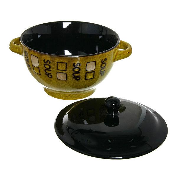 Бульонница керамическая с крышкой 450мл ″Суп″ купить оптом и в розницу
