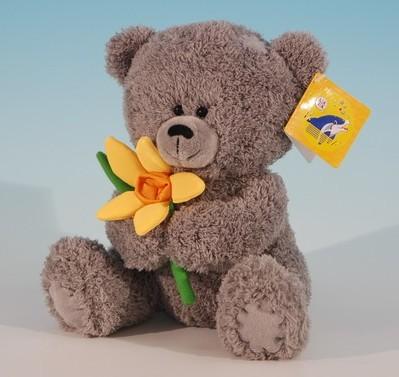 Медвежонок с нарциссом муз. 8383 купить оптом и в розницу
