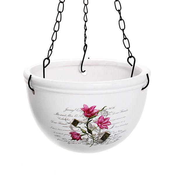 Кашпо для цветов садовое ″Подвесное″ 15х16см″ YВ14285-1 купить оптом и в розницу