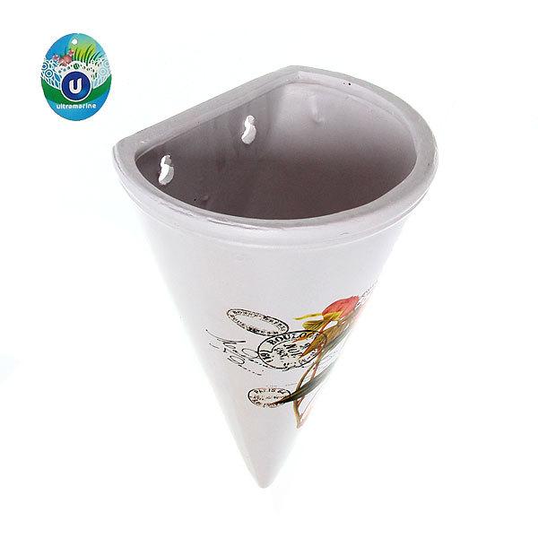 Кашпо для цветов садовое ″Настенное конус″ 18х31,5см″ JB14288-1 купить оптом и в розницу