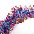 Мишура новогодняя 2 метра 9см ″Северное сияние″ синий, розовый, золотой купить оптом и в розницу