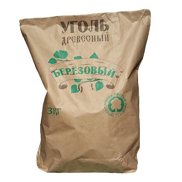 Уголь березовый 3 кг (А) купить оптом и в розницу