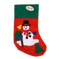 Носок новогодний 38х16 см ″Снеговичок″ купить оптом и в розницу
