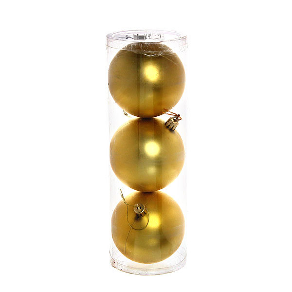 Новогодние шары ″Золотая лихорадка″ 8см (набор 3шт.) купить оптом и в розницу