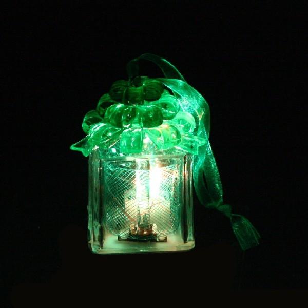 Фигурка с подсветкой ″Подарочек с бантиком″зеленый 6*5см купить оптом и в розницу