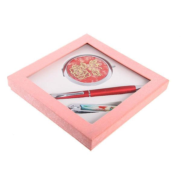 Подарочный набор ″Стиль″(ручка+книпсер+зеркало) 15*15см купить оптом и в розницу