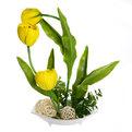 Цветы искусственные в тарелке ″Тюльпаны″ 36 см 3 бутона YX12180 купить оптом и в розницу