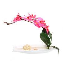 Цветы искусственные в тарелке ″Орхидея″ 22 см YX11043 купить оптом и в розницу