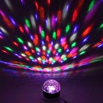 Светодиодный диско шар ″Каледоскоп″, RGB(красный, зеленый, синий), вращение, USB+mSD+пульт купить оптом и в розницу