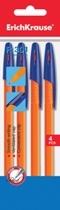 Набор ручек шар.Erich Krause Orange R-301 0,7мм 4шт (син) купить оптом и в розницу