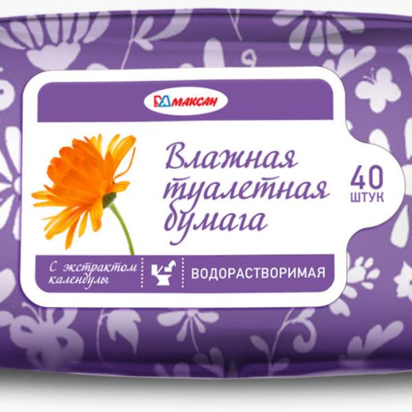 Бумага туалетная влажная 40л. ″Максан″ купить оптом и в розницу