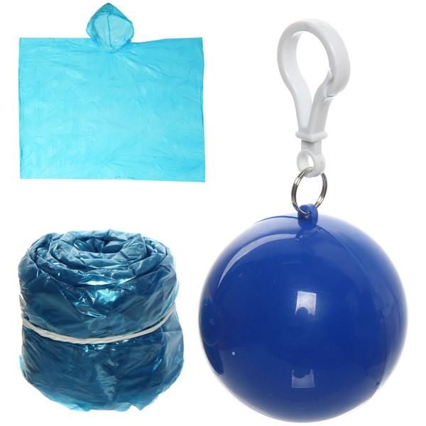 Дождевик Шар пончо 90х120см синий купить оптом и в розницу