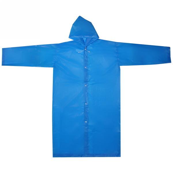 Дождевик Солнышко на кнопках/капюшон 110х65см синий купить оптом и в розницу