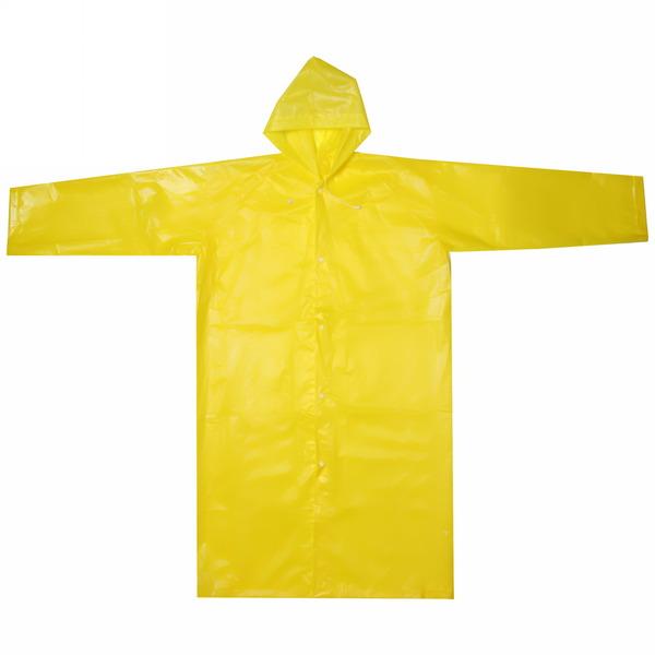 Дождевик Солнышко на кнопках/капюшон 110х65см желтый купить оптом и в розницу