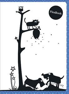 """Тетрадь 60л.кл.скрепка Flex Book, """"Animals"""" синяя купить оптом и в розницу"""