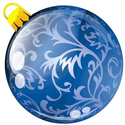 Наклейка круг цветная D 50 мм ″Новогодний шар, вид 1″ (полимер) купить оптом и в розницу