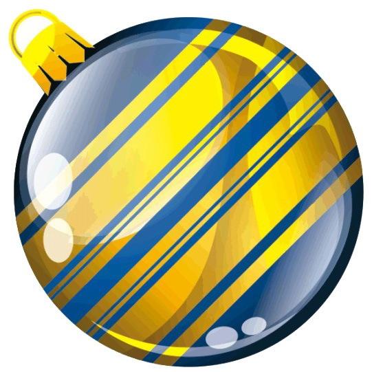 Наклейка круг цветная D 50 мм ″Новогодний шар, вид 3″ (полимер) купить оптом и в розницу