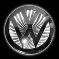 Автологотип Logo 3D VW TopCar (110x110mm white) купить оптом и в розницу