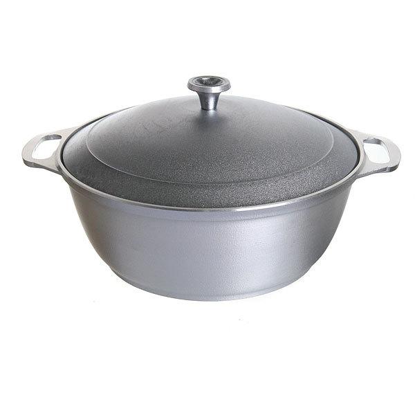 Кастрюля-жаровня 4 л литой алюминий КМ-ж40 купить оптом и в розницу