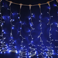 Занавес светодиодный ш 2 * в 3м, 432 ламп LED, ″Дождь″, Белый, 8 реж, прозр.пров. купить оптом и в розницу