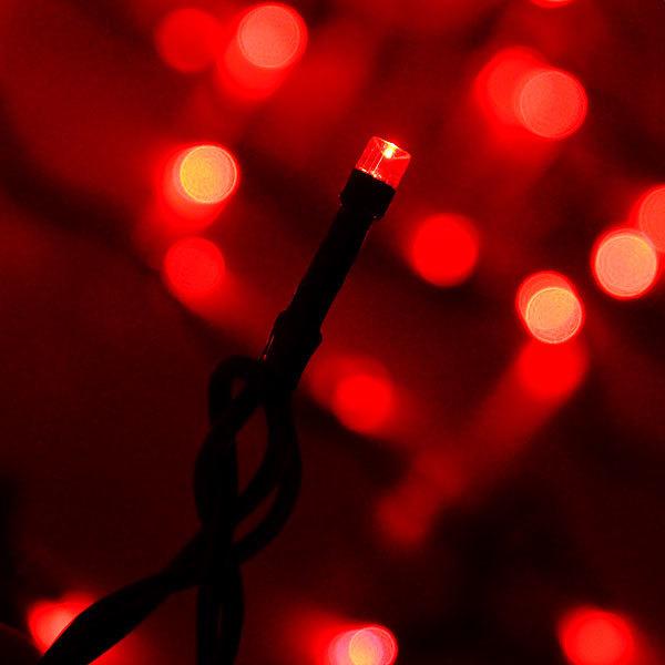 Занавес светодиодный уличный ш 2 * в 6м, 864 лампы LED, ″Дождь″, Красный, 8 реж, черн.пров купить оптом и в розницу