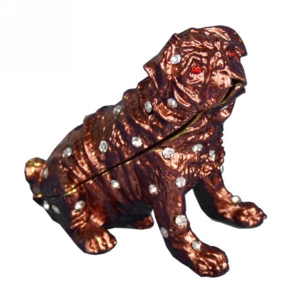 Шкатулка со стразами Собака F574 купить оптом и в розницу