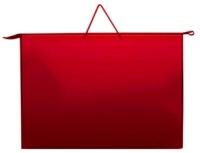 Папка д/рисования на молнии А1 Красная Ковров купить оптом и в розницу