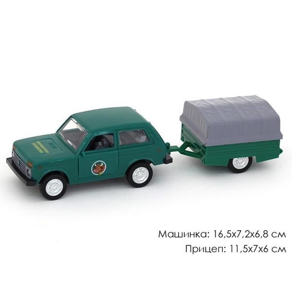 Машина инерц. 10706АПР Джип Фермерское хозяйство+прицеп в пак. купить оптом и в розницу