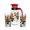 Набор питьевой 3 предмета: Кувшин 1,2л, 2 стакана 280мл ″Клубника″ купить оптом и в розницу