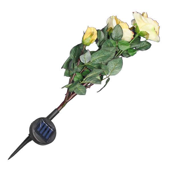Фонарь декоративный на солнечных элементах ″Роза кустовая″ 85 см (цена за 1шт) купить оптом и в розницу
