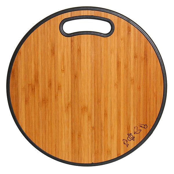 Доска разделочная из бамбука+пластик круглая 35*1,2см купить оптом и в розницу