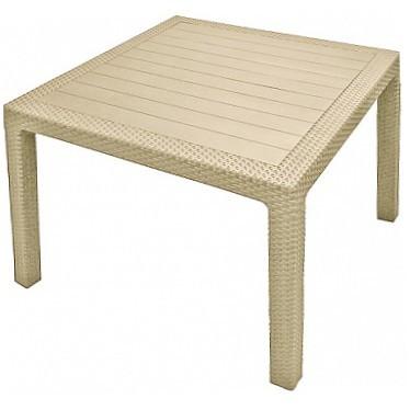 Стол (искусственный ротанг) MELODY QUARTET TABLE  95 х 95 х 75 cm белый Curver купить оптом и в розницу