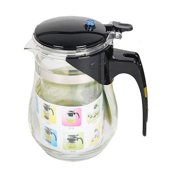 Чайник заварочный стеклянный 600 мл с кнопкой купить оптом и в розницу