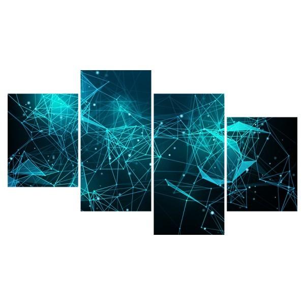 Картина модульная полиптих 60*129 Абстракция купить оптом и в розницу