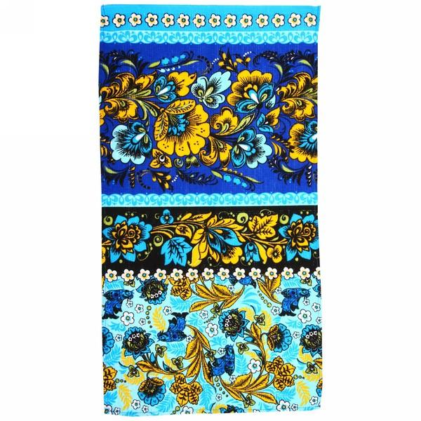 Полотенце вафельное 40*75см ″Хохлома″ оранжевое купить оптом и в розницу