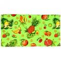 Полотенце вафельное 40*75см ″Тропический фрукт″ зеленое купить оптом и в розницу