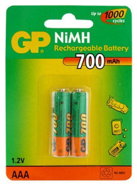 Аккумулятор GP R-03/AAA/700 mAh BL*2 купить оптом и в розницу