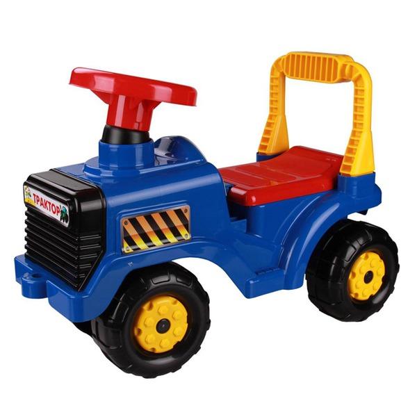 Каталка Трактор синий М4942 купить оптом и в розницу
