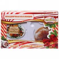 Набор магнит и кулинарный трафарет ″Счастья и здоровья!″, Ореховый праздник купить оптом и в розницу