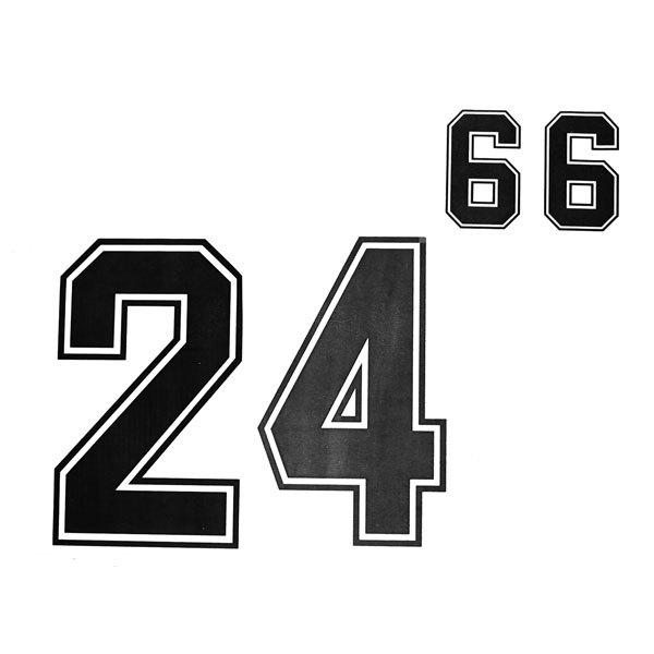 Термоаппликация Номер на футболку 002 (чёрный, большие цифры: 0-9, маленькие: 2х0-9) купить оптом и в розницу