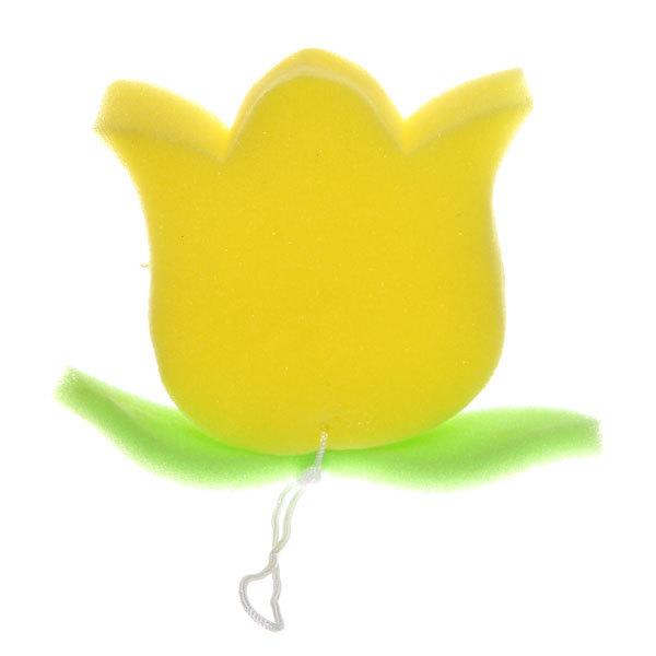 Губка для тела банная поролоновая ″Тюльпан″ классическая, фигурная 9,5*12см купить оптом и в розницу