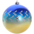Новогодний шары ″Ночь.День.″ 10см (набор 2шт.) купить оптом и в розницу