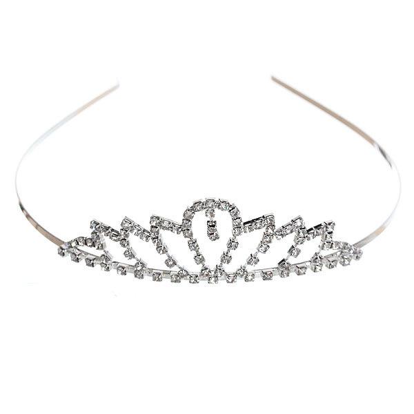 Ободок-диадема ″Вивьен - нежность″, цвет серебро купить оптом и в розницу