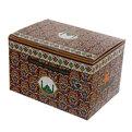 Чайник заварочный керамический 1150 мл ″Мусульманская деколь″ бордовый купить оптом и в розницу