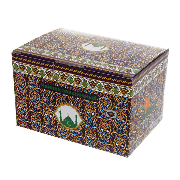 Чайник заварочный керамический 1150 мл ″Мусульманская деколь″ синий купить оптом и в розницу