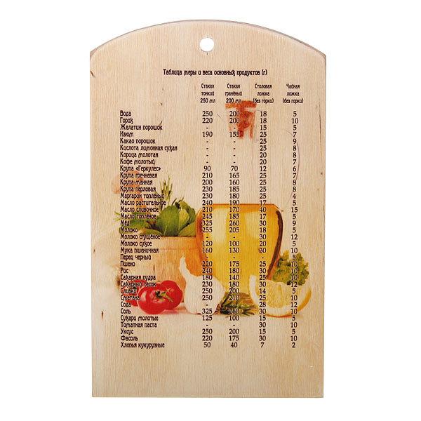 Доска разделочная сувенирная 18*30*0,8см ″Специи″ купить оптом и в розницу