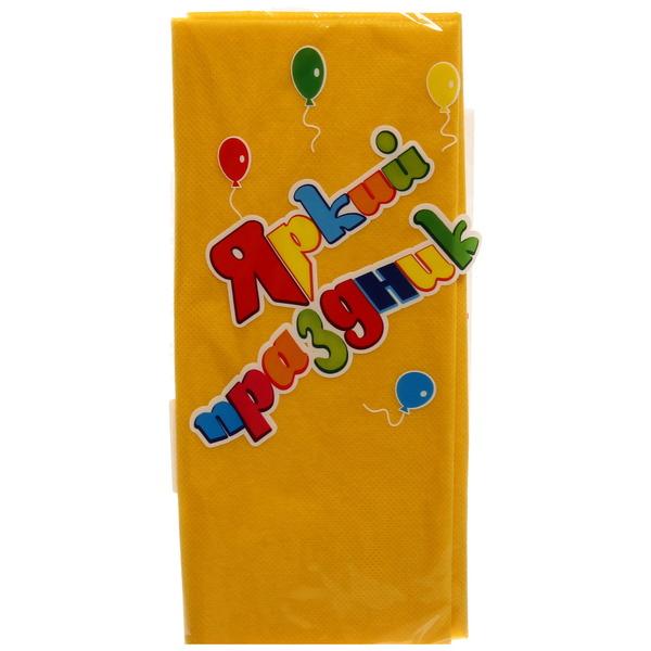 Скатерть одноразовая 120*140см желтая Яркий праздник купить оптом и в розницу