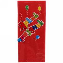 Скатерть одноразовая 120*140см красная Яркий праздник купить оптом и в розницу