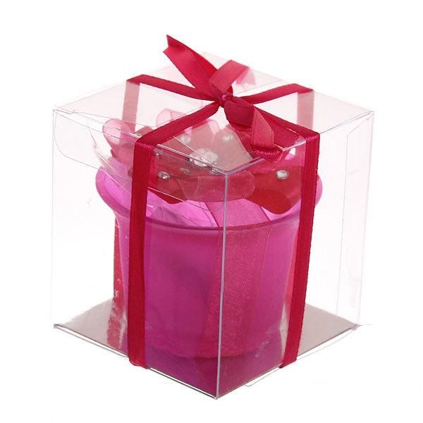 Свеча ″ Праздничная″ 1 штука 5,5*7 см малиновая 1368 купить оптом и в розницу
